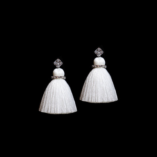 ODELIA GRANDEUR Zircon Tassel Earrings