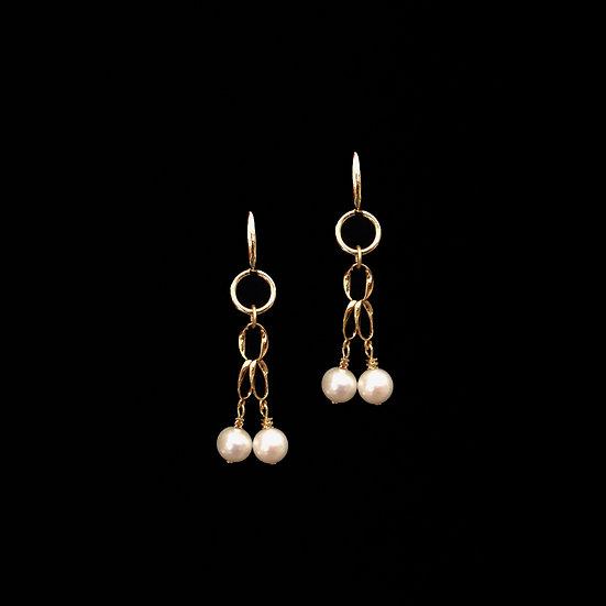 MAG Freshwater Pearl Hoop Earrings