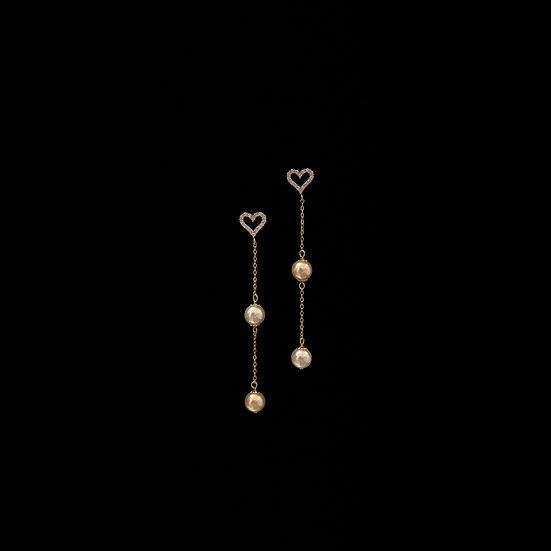 CHAYA Zircon & Swarovski Crystal Pearl Drop Earrings