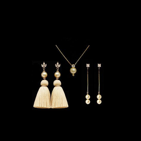 LEAN Zircon & Swarovski Crystal Pearl Gift Set
