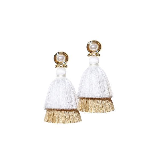 BASIL Pearl Vintage Tassel Earrings