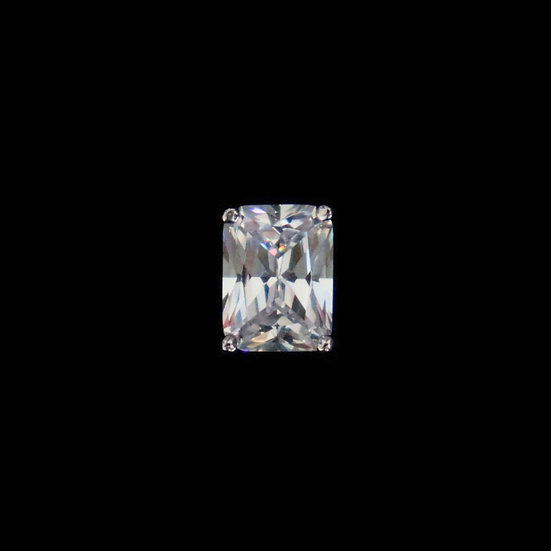 SILVERDEW GRANDEUR Sterling Silver Zircon Stub Earring