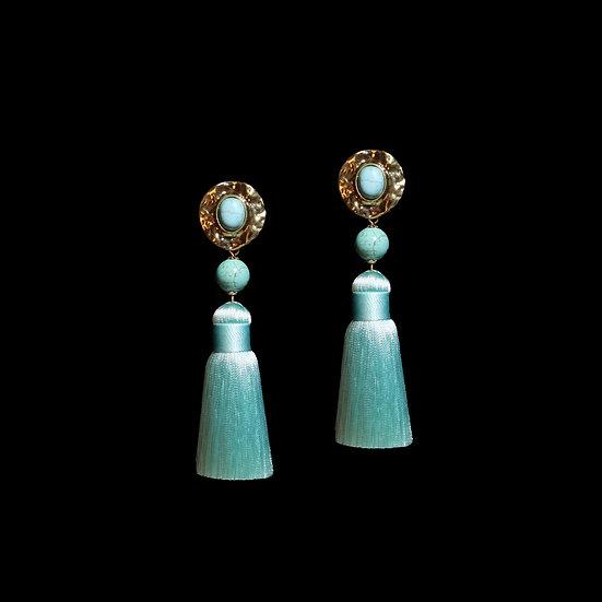 EARTHA Natural Stone Tassel Earrings