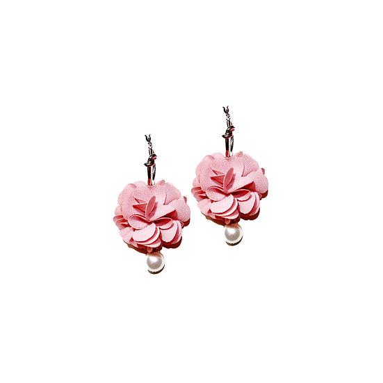 ESTELLE Flower & Swarovski Crystal Pearl Hoop Earrings
