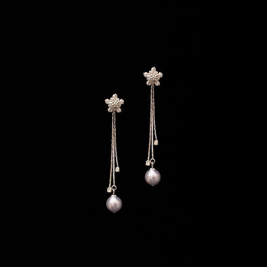LILITH STARS 3in1 Zircon & Swarovski Crystal Pearl Drop Earrings
