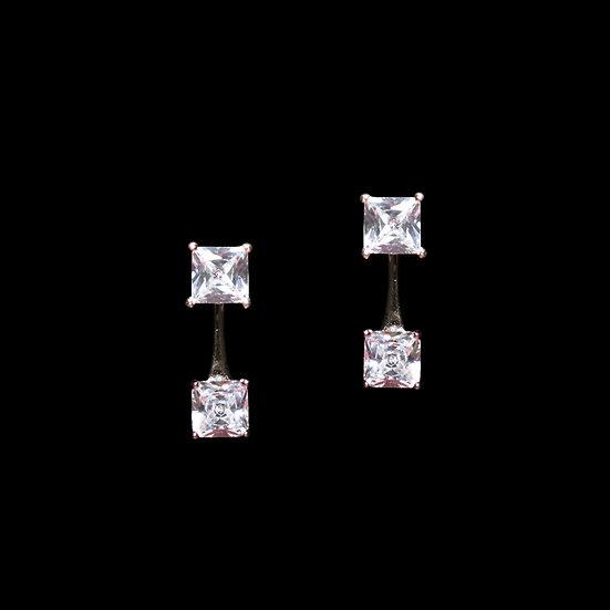 SILVERDEW Zircon Two Way Earrings