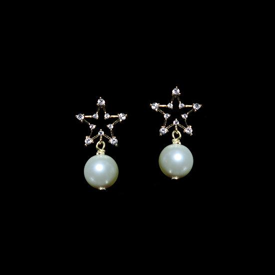 FAY Zircon & Swarovski Crystal Pearl Drop Earrings