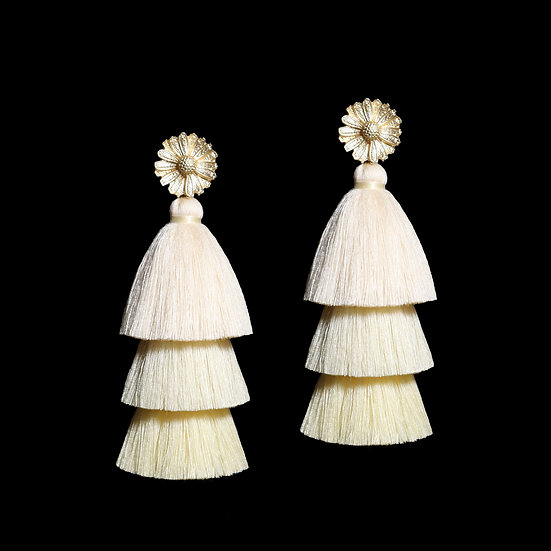 GENEVIEVE Vintage Tassel Earrings