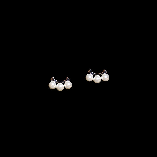 ABIGAIL Swarovski Crystal Pearl Stud Earrings