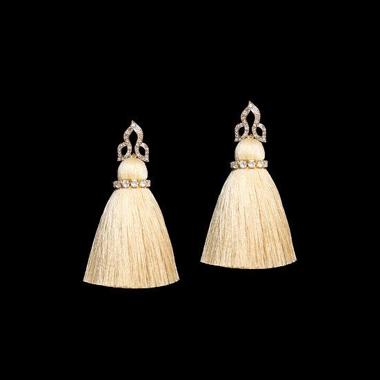 EUDORA Crystal Vintage Tassel Earrings