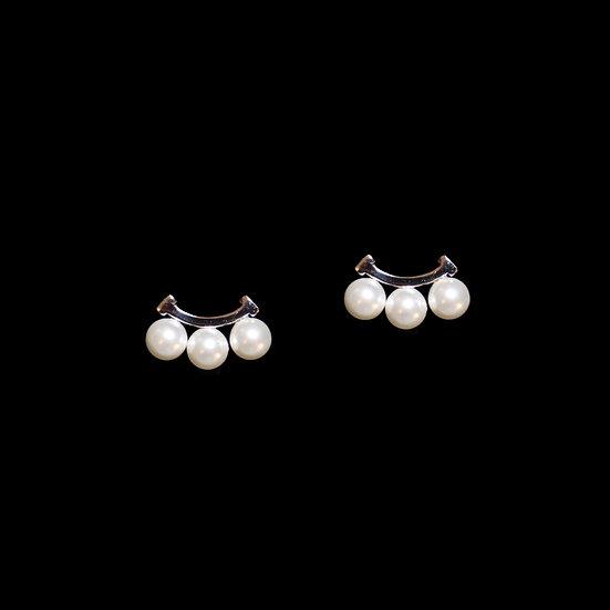 ABIGAIL Swarovski Crystal Pearl Stud Earrings