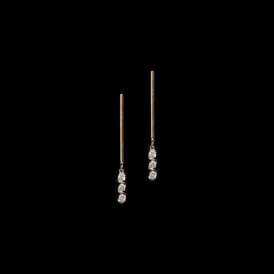 ANGELA Zircon Drop Earrings