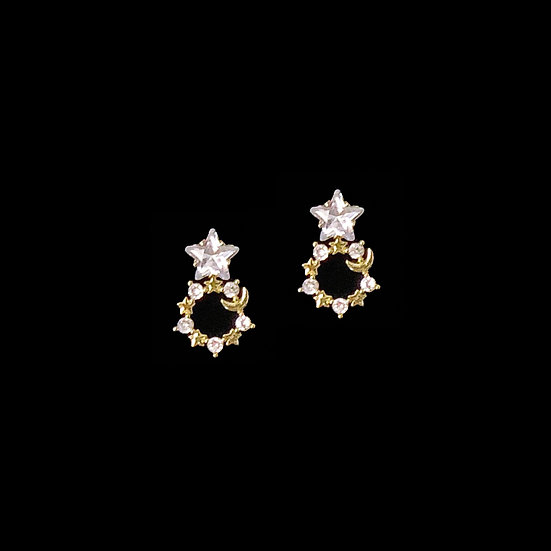 LUNA Zircon Drop Earrings