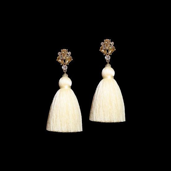 MIRABELLA Crystal Vintage Tassel Earrings