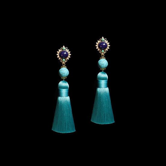AURORA Natural Stone Tassel Earrings