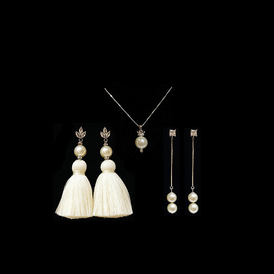 LEAN CROWN Zircon & Swarovski Crystal Pearl Gift Set