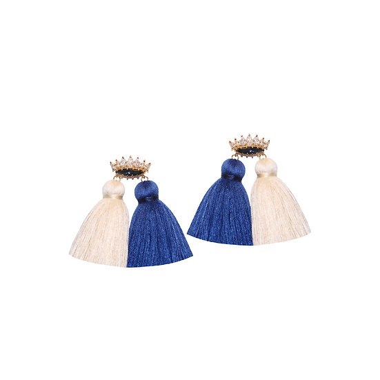 HARITI Zircon Tassel Earrings