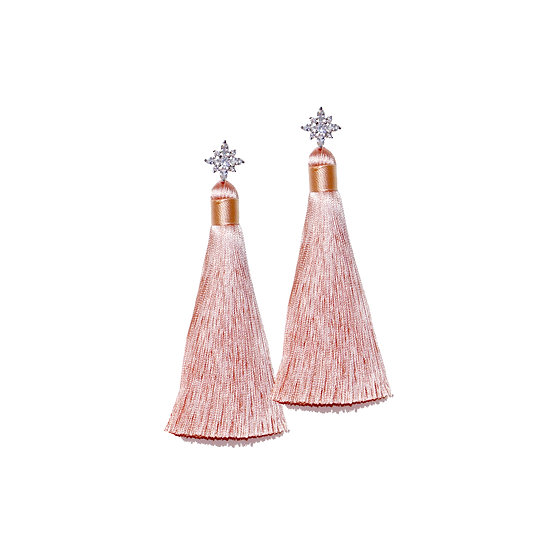 ODELIA Zircon Tassel Earrings