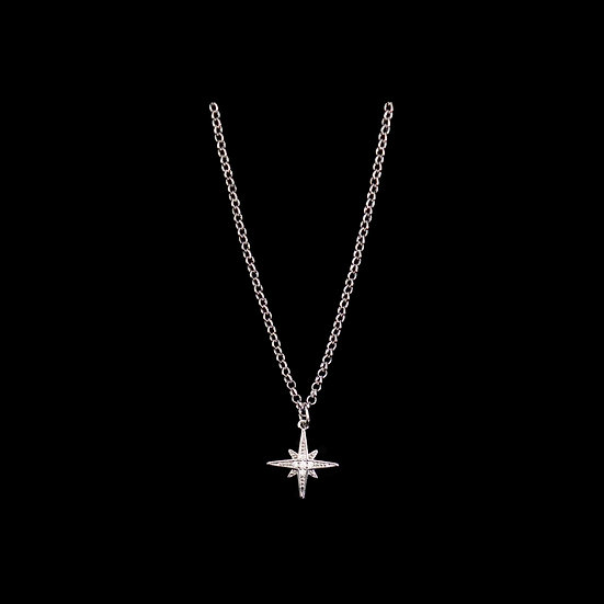 AZAREL 24K White Gold Plating Zircon Necklace