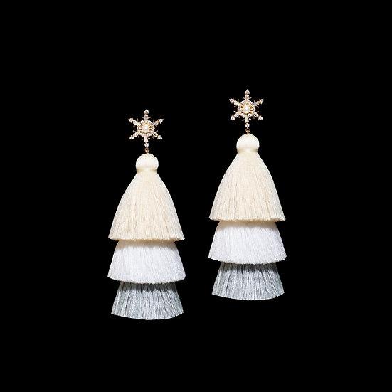 SAFIYA Zircon Tassel Earrings