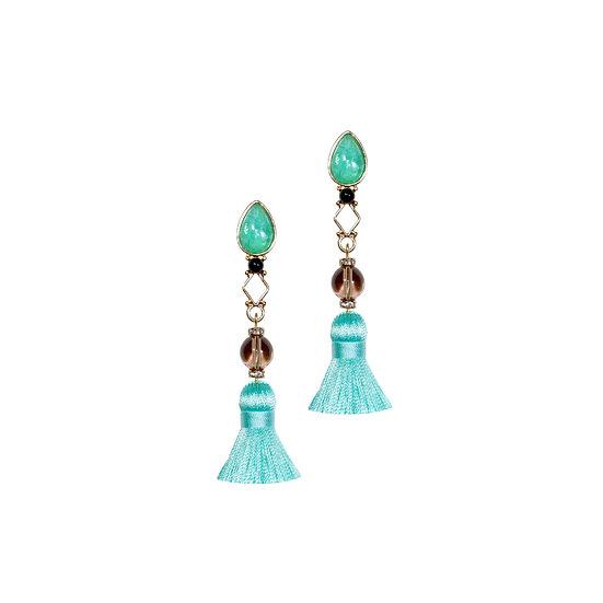 CHEROKEE Natural Stone Tassel Earrings