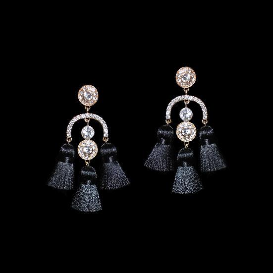 BEATRICE Crystal Vintage Tassel Earrings
