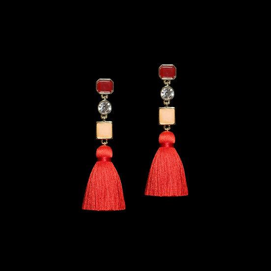 SIGRID Crystal Vintage Tassel Earrings