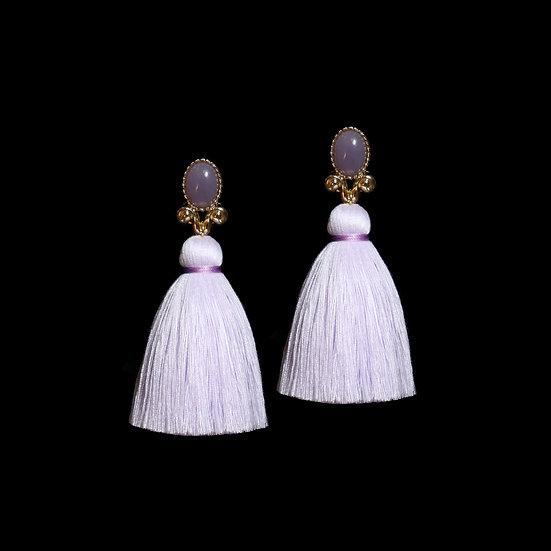 ELEANORE Vintage Tassel Clip-On Earrings