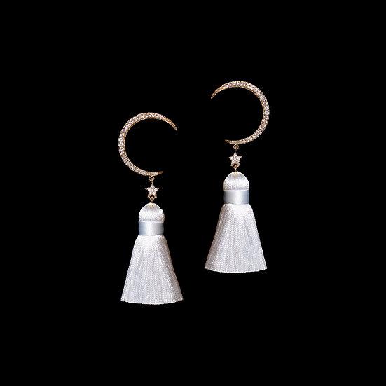 GOLD SEMINE Zircon Vintage Tassel Earrings