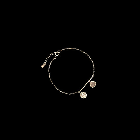 MADISON SILVER Zircon & Crystal Anklet