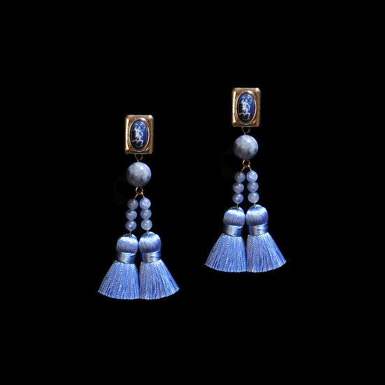 EDEN KAY Natural Stone Tassel Earrings