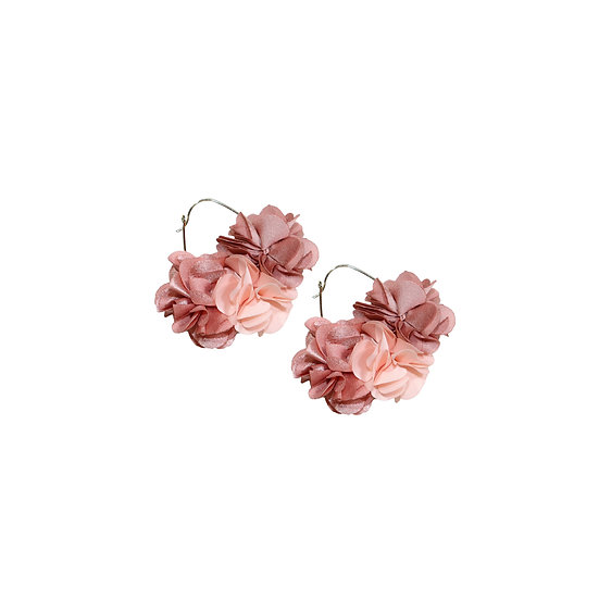 KATELYN CARINA Flower Hoop Earrings