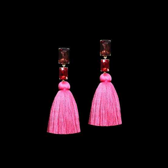MAUD Crystal Vintage Tassel Earrings
