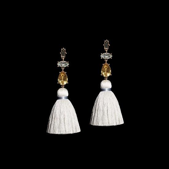 SALOME Crystal Vintage Tassel Earrings