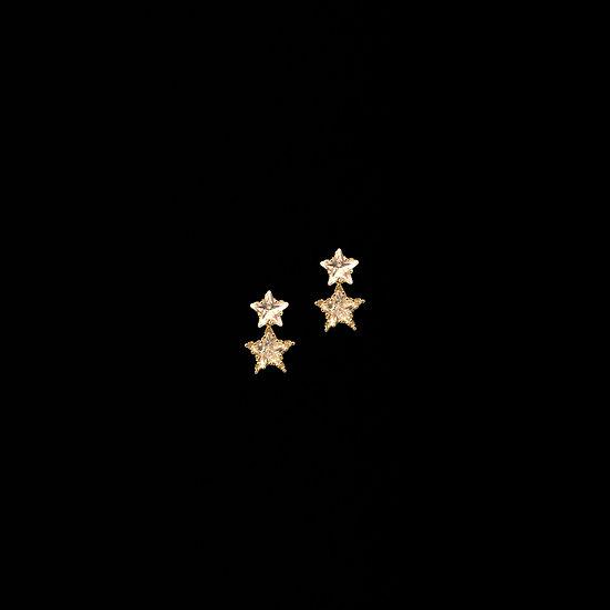 LILITH GOLD Zircon Drop Earrings