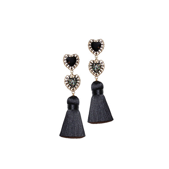 GLAYS Crystal Vintage Tassel Earrings