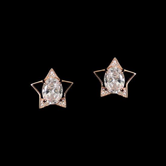 DANICA GRANDEUR S925 Rose Gold Zircon Earrings