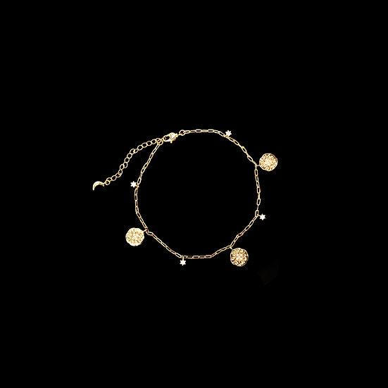MADISON MOON 18kt Gold Vermeil Zircon Anklet