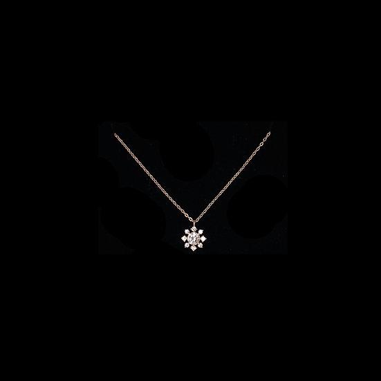 ALI SNOW S925 Rose Gold Zircon Necklace