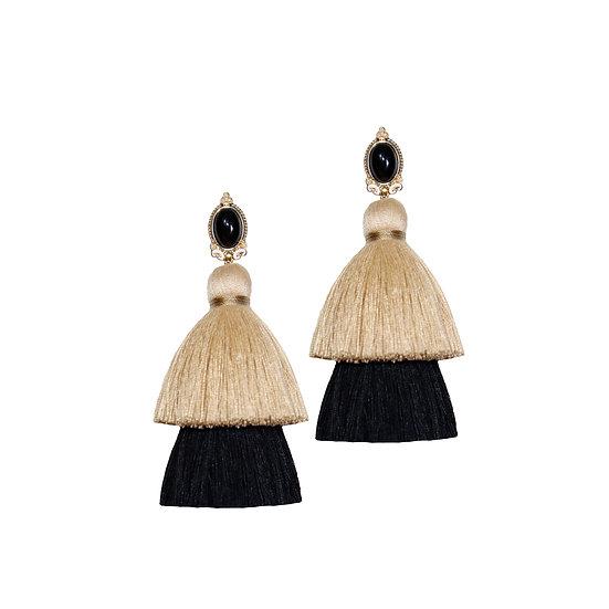 STEFAN Vintage Tassel Clip-On Earrings