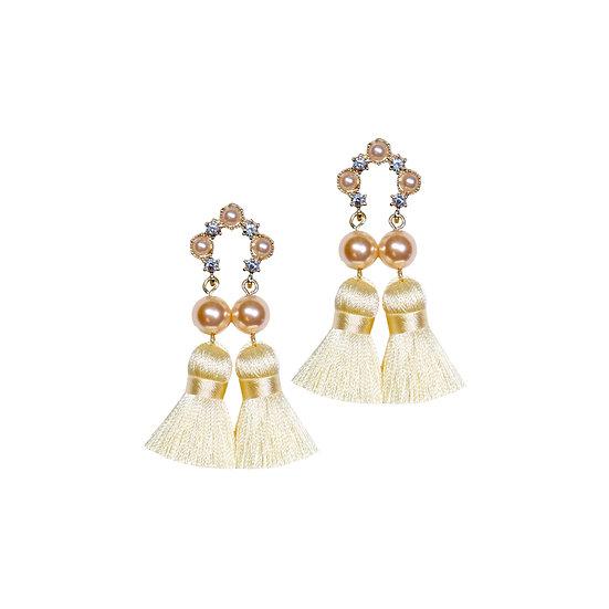 GIOVANNA Swarovski Crystal Pearl Vintage Tassel Earrings