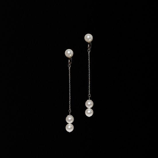 ALESSIA Swarovski Crystal Pearl Drop Clip-On Earrings