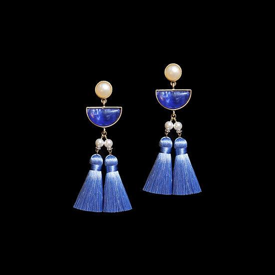 BRENDA Swarovski Crystal Pearl Vintage Tassel Earrings