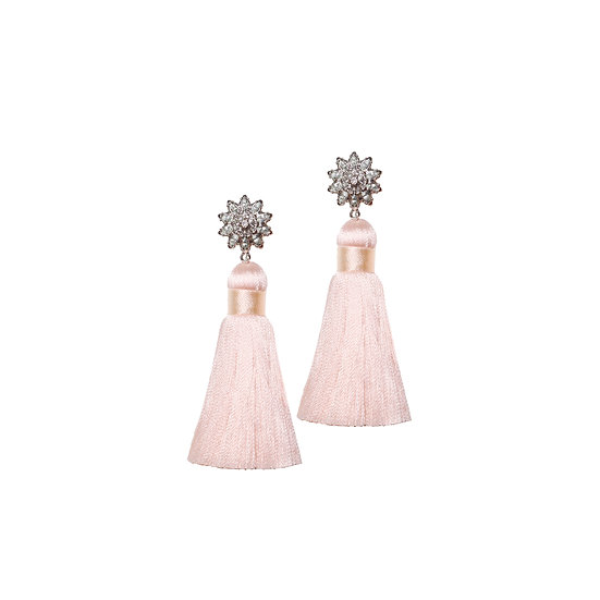 GINA Crystal Vintage Tassel Earrings