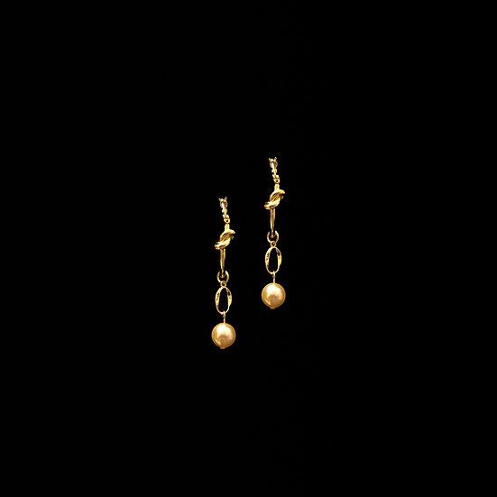 DANA Swarovski Crystal Pearl Hoop Earrings
