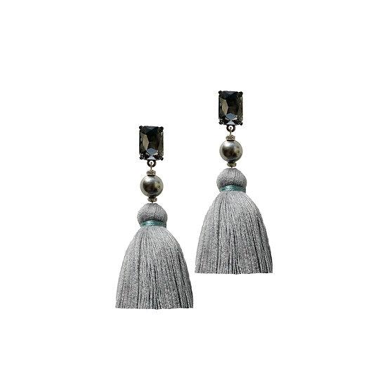 ARCHIBALD Swarovski Crystal Pearl Vintage Tassel Earrings