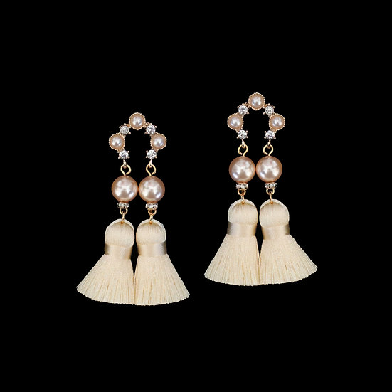 GIOVANNA Swarovski Crystal Pearl Vintage Tassel Earrings