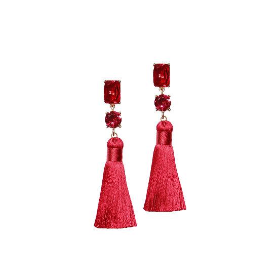 MARTINA Crystal Vintage Tassel Earrings