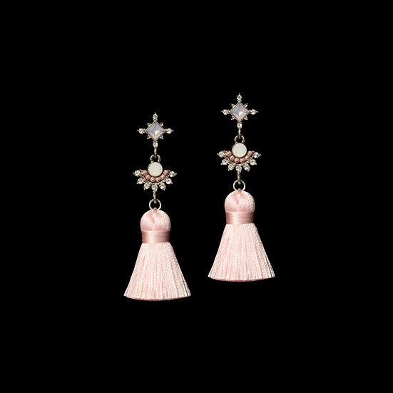 ALBERTA KYA Opal Vintage Tassel Earrings