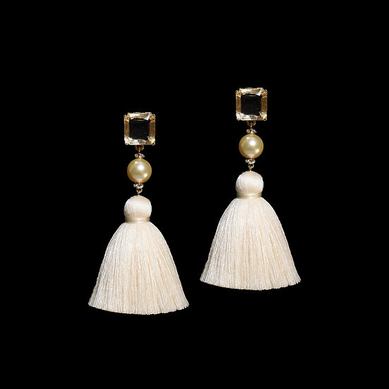 ANNA Swarovski Crystal Vintage Tassel Earrings